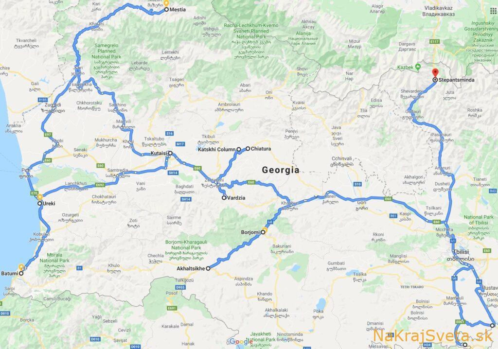 gruzinsko plan cesty